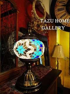 TAZU本月推介:特價傾銷土耳其特色馬賽克玻璃特色復古小台燈. 特價$380 直徑13CM.高29CM