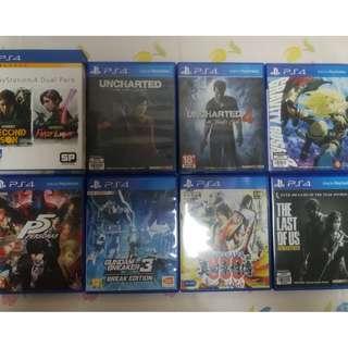 放PS4 Games: Gundam Breaker 3 Breaker Edition,Uncharted 4,Lost Legacy,Gravity Rush 2,The Last of Us,Infamous