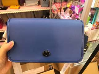 Coach F57325 藏青藍色新款 細斜包