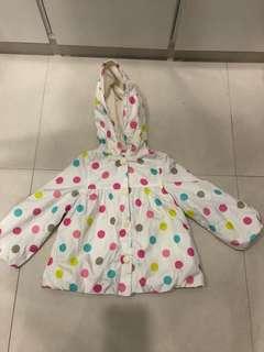 Carter's polka dot rain coat