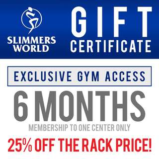 Exclusive Gym Access for 6 Months Gift Certificate