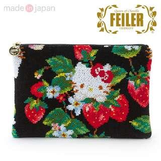 日本Sanrio代購Hello Kitty x FEILER 草莓卡片包散子包銀包
