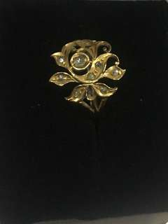 Nyonya Intan ring of lotus or rose flower