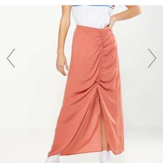 New Cotton On nude maxi skirt high split trendy