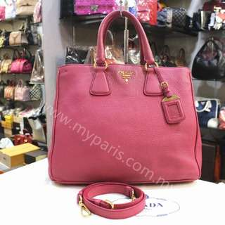 Prada Fuchsia Leather 2 ways  used Bag