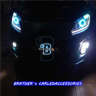 (5) LED Soft Rubber DRL with Running Signal