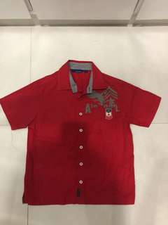 Periwinkle red polo