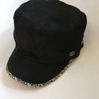 Roxy 黑色軍帽款(二手)96%new