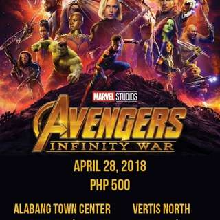 Avengers Block Screening w/ FREE FOOD, DRINKS & RAFFLE PRIZES FROM OISHI