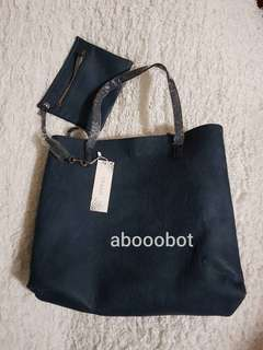 FREEPEOPLE VEGAN LEATHER REVERSIBLE TOTE with Pouch