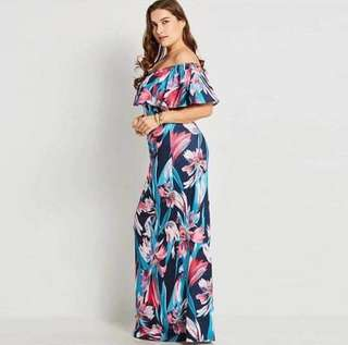 Plussize! Off Leaves Maxi