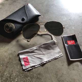 Rayban Aviator Sunglasses Polarised Lenses Authentic!