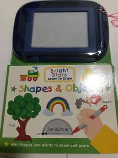 Shapes drawing writing doodle book/board