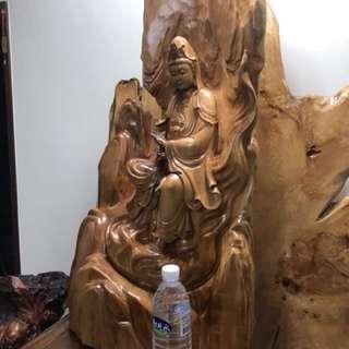 圖1、2菩薩 台灣黃檜 有保證書,買價13萬,有興趣私