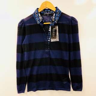 New Gucci cashmere polo sweater size S