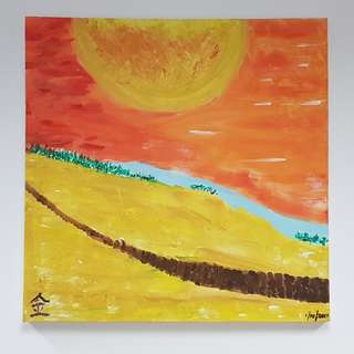 Canvas Painting for sale: Descendent of the Sun