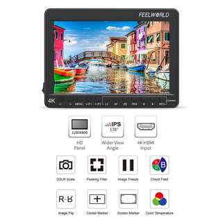 """🚚 FEELWORLD CN7 7"""" 4K HDMI Monitor with Canon DSLR Focus Control IPS LED Panel"""