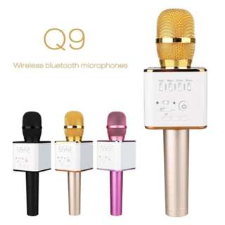 Q9 Wireless Bluetooth KTV Karaoke Microphone Speaker Q7 WS858 WS878