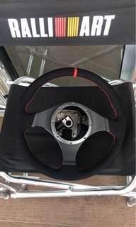 Evo 9 alcantara steering wrap