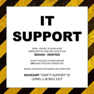 TEMP IT Support // 1-3 months // Study or Work IT before