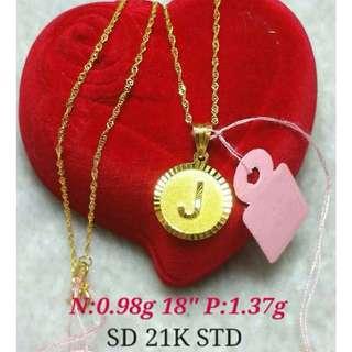 21K SAUDI GOLD NECKLACE (CHAIN & PENDANT) >>>>>