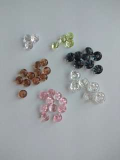 Crystal craft Buttons for DIY