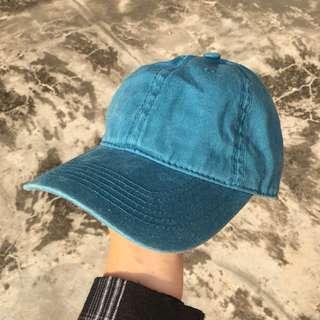 藍色嘻哈老帽(水洗布材質)