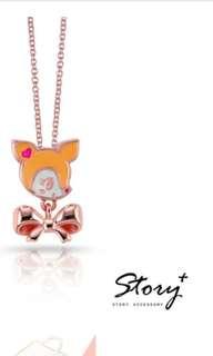 台灣代購 台灣直送 哈妮鹿 可愛甜美琺瑯純銀項鍊 頸鏈 sanrio 三麗鷗