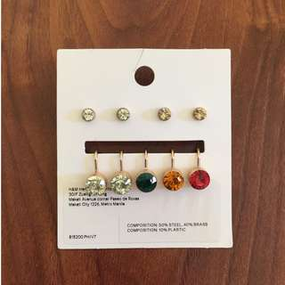 H&M studs and clip on earrings