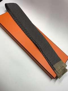 Hermes Tie 真絲呔 長款 全新購自巴黎保正真品