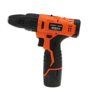 HOUSEHOLD SCREWDRIVER CORDLESS POWER ELECTRIC DRILL DRILLING TOOL (BLACK AND ORANGE)