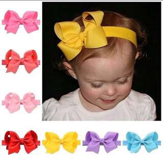 Instock - classic ribbon headband, baby infant toddler girl children sweet kid happy abcdefgh so pretty