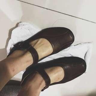 🌟降價🌟ASO咖啡文青小皮鞋