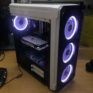 White RGB Custom Gaming PC (GTX1060, SSD)