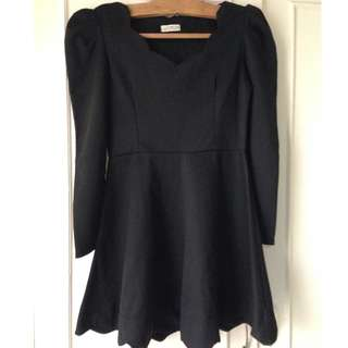 SALE! Repriced Black Korean Dress