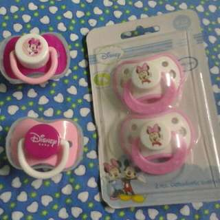 4 pcs pink disney pacifier
