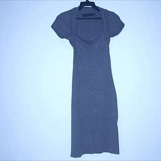 Zara Bodycon Dress Dark Grey