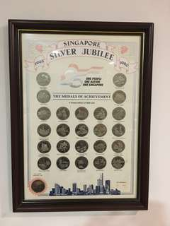 Limited edition Singapore Silver Jubilee Coin Set