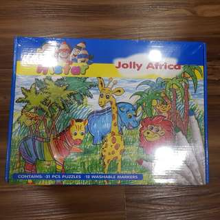 BNIP Histar Jolly Africa Puzzle with Washable Markers