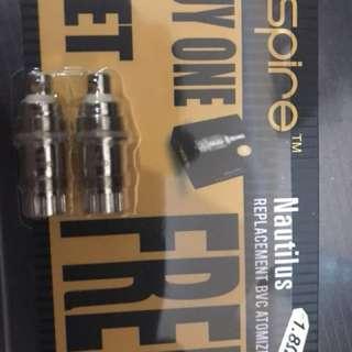 Vape - nautilus aspire coil (15 pieces) - 1 box isi 2 pieces