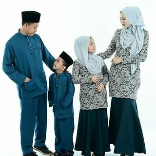 Baju Raya Set Ibu Ayah Dan Anak