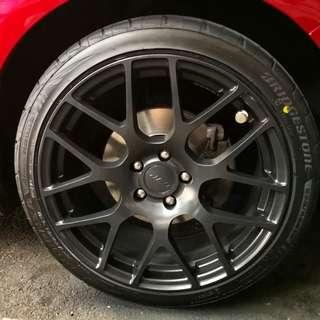 Plasti dip your car wheel 🚗 Plastidip Ford