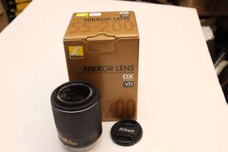 WTS USED Nikon AFS 55-200mm VR ii with box