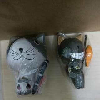 貓貓釣魚木製擺設 購自台灣 全新