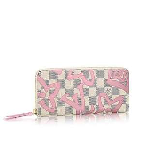 Louis Vuitton Rose Ballerine Tahitienne Clemence Zippy Wallet