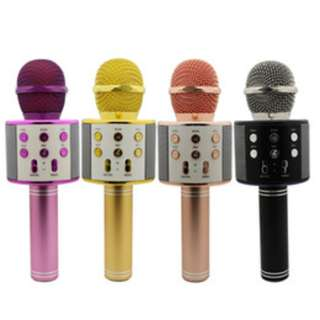 WS-858 Wireless Karaoke Handheld Microphone KTV Player Bluetooth Speaker WS858