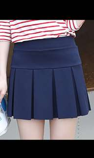 Navy Tennis Skirt