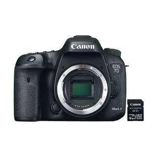 🚚 Canon 7D Mark II EOS Camera Body Only + Canon W-E1 WIFI Adapter