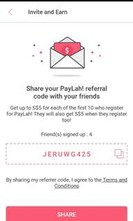Use my promo code get cash JERUWG425