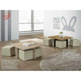 COFFEE TABLE WITH STOOL #furniture50